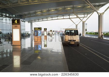 Hanoi, Vietnam - July 12, 2015: Front Hall Of Noi Bai International Airport, The Biggest Airport In