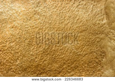 Background Of Golden Metal, Texture Gold Or Brass