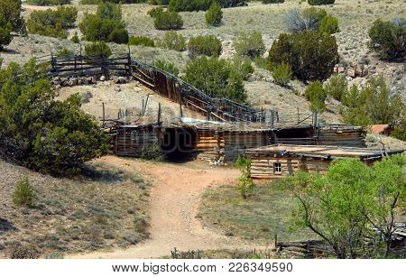 Corral And Log Cabins