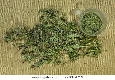 Mint, Spearmint. Dry Herbs For Use In Alternative Medicine, Phytotherapy, Spa, Herbal Cosmetics. Pre