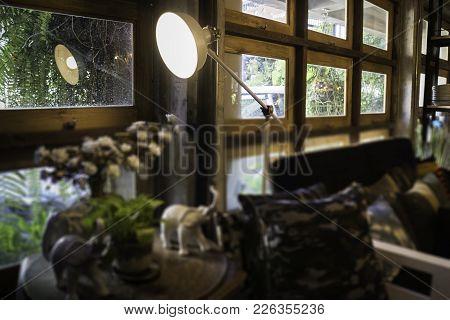Decorative Ldesk Lamp In Modern Style, Stock Photo