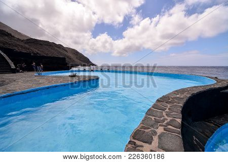 Landscape Swimming Pool Of El Hierro Island Canary Islands Spain