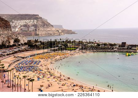 Spanish View Landscape In Puerto Rico Gran Canaria Tropical Volcanic Canary Islands Spain