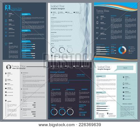 Resume Or Curriculum Vitae. Design Template With Place For Your Text. Curriculum And Cv, Interview L