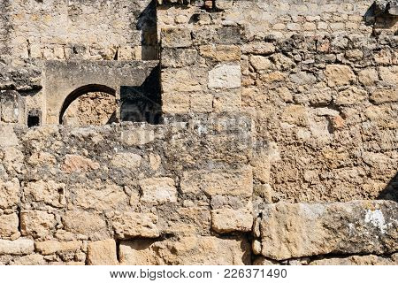 View Of Old Walls In Archeological Set Of Madinat Al-zahra, Cordoba, Spain