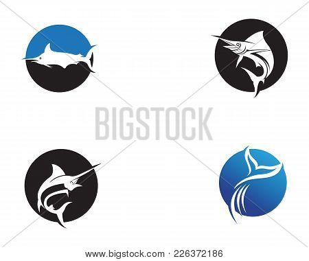 Marlin Jump Fish Logo And Symbols Icon