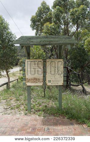 Silverton, South Australia, Australia - December 2, 2017: Talisker Silver Lead Mine Signage, Outlini