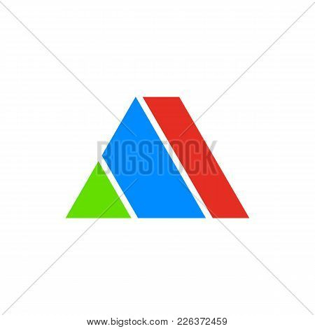Initial A Letter Pyramid Shape Vector Illustration Graphic Design