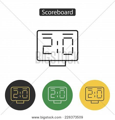 Scoreboard Icon. Countdown Timer Image. Sport Accessories Collection For Info Graphics, Websites And