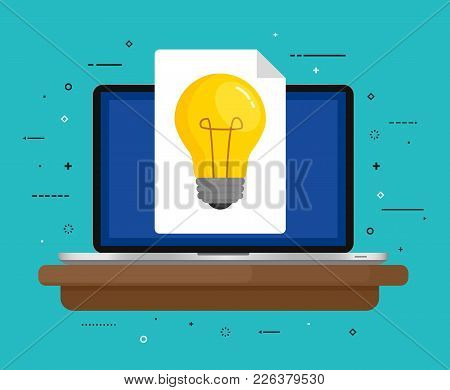 Concept For Creativity, Imagination, Innovation. Vector Illustration. Flat Design.