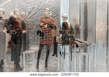 Chanel Shop At Emquatier, Bangkok, Thailand, Nov 10, 2017 : Luxury And Fashionable Brand Window Disp