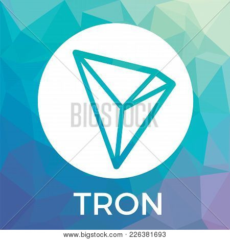 Tron (trx) Decentralized Blockchain In-app-purchases Payments Cryptocurrency Vector Logo.