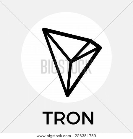 Tron (trx) Decentralized Blockchain In-app-purchases Payments Cryptocurrency Vector Black White Logo