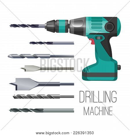 Drilling Machine Or Hand Drill Fitted With Cutting Or Driving Tool Attachment, Set Of Drills Or Driv
