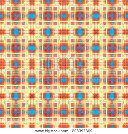 Colorful Abstract Red, Yellow And Blue Grid Pattern