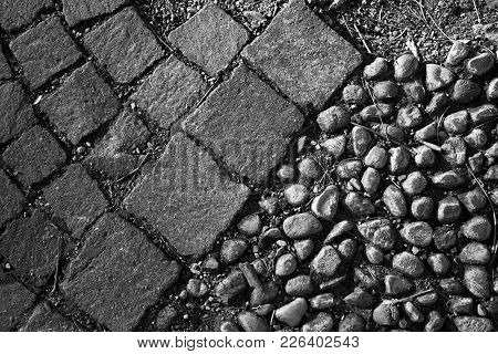 Two Types Of Cobbles In One Place