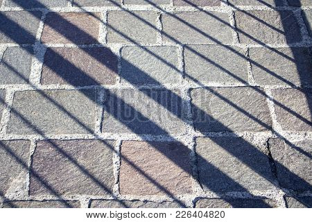 Different Sizes Cobbles With Shadow Lines On It