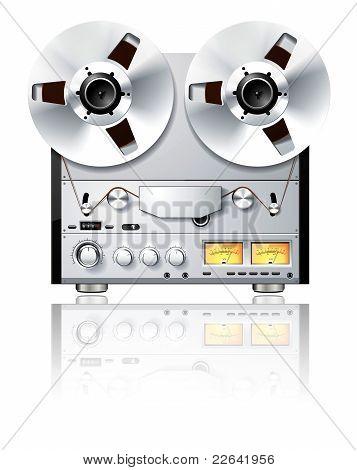 Vintage Hi-fi Analog Stereo Reel To Reel Tape Deck Player / Recorder
