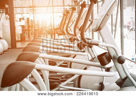 Image Of Modern Fitness Gym Interior With Equipment