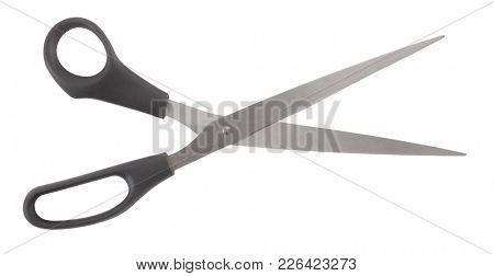 Classic scissors simple metal black model