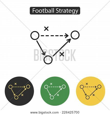 Soccer Strategy Icon. Tactics Business Symbol. Football Play Icon. Sport Accessories Collection For