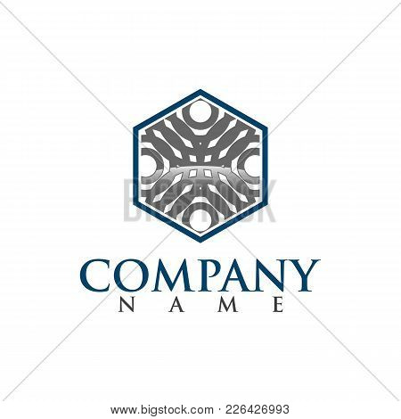 Hexagon - Branding Hexagon Vector Logo Concept Illustration. Hexagon Geometric Polygonal Logo. Hexag