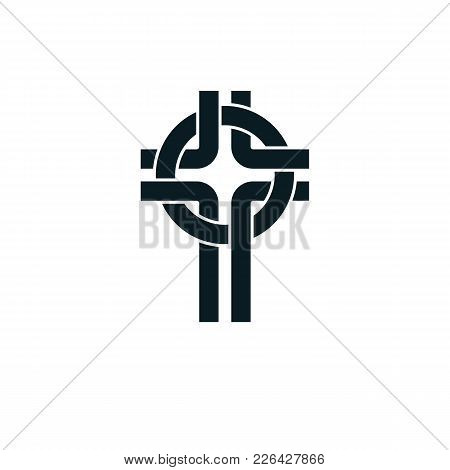 Christian Cross True Belief Vector Religion Symbol, Christianity Jesus Icon.