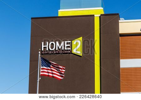 Lafayette - Circa February 2018: Home2 Suites By Hilton. Home2 Suites Is An All-suite Extended-stay