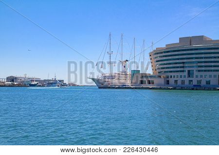 View On The World Trade Center Barcelona Located On The Waterfront Of Mediterranean Sea From The Por