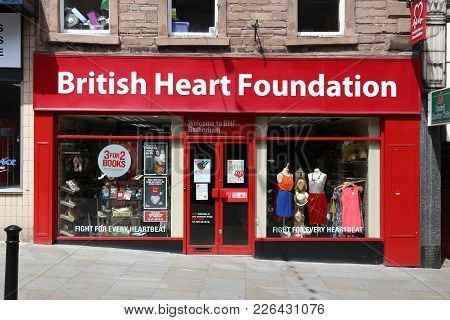 Rotherham, Uk - July 10, 2016: British Heart Foundation Store In Rotherham, Uk. The Charity Has Some