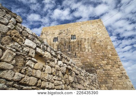Tarragona,spain-november 7,2011: Architecture, Ancient Buildings, Roman Legacy, Tower, Torre Del Pre