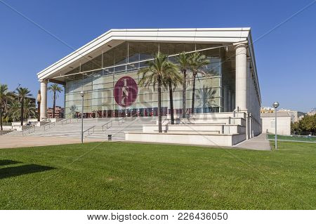 Barcelona,spain-september 16,2011: Architecture, Building Theater, Tnt-teatre Nacional De Catalunya,