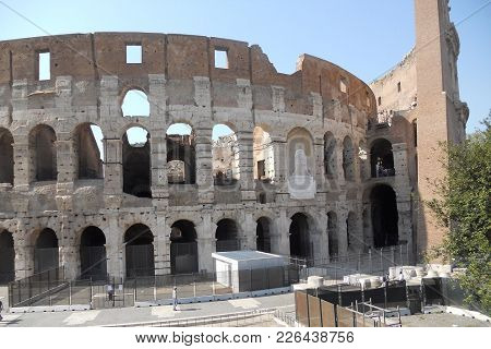External View Of The Colosseo In Rome
