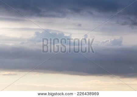 Beautiful Sky Background With Clouds At Sunset .
