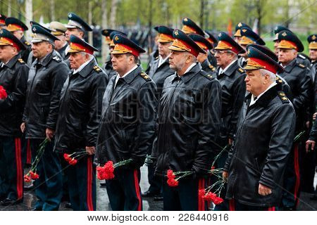 Moscow, Russia - May 08, 2017:  General Of The Army Valery Gerasimov And Collegium Of The Ministry O