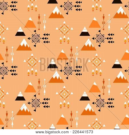 Decorative Pattern With Abstract Details.tribal Geometric Background. Stylish Trendy Fabric. Vector