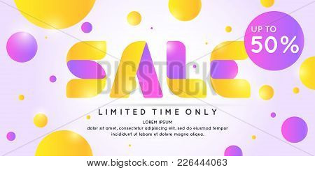 Best Sale Banner. Original Poster For Discount. Bright Abstract Background With Text. Vector Illustr