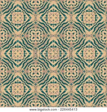 Tribal Seamless Ethno Boho Patern. Clothing, Bedding, Home Textile Design.