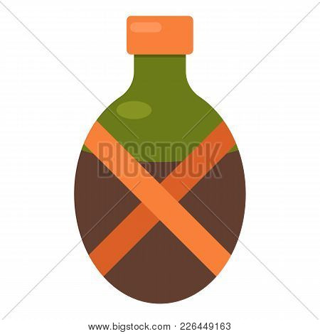Camping Flask Icon. Flat Illustration Of Camping Flask Vector Icon For Web