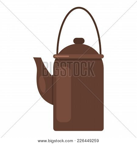 Camp Teapot Icon. Flat Illustration Of Camp Teapot Vector Icon For Web