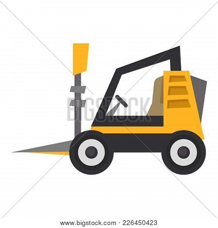 Mini Loader Icon. Flat Illustration Of Mini Loader Icon For Web