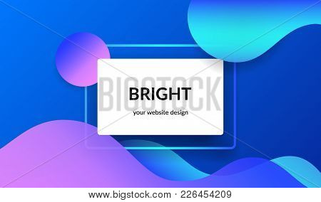Bright Design For Corporate And Personal Website Banners And Presentation Slides. Abstract Landscape