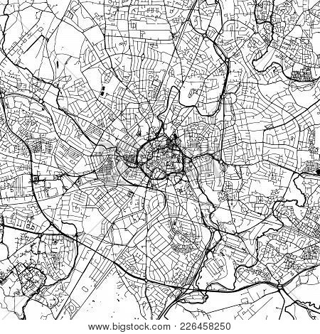 Coventry Downtown Map With Many Details For Various Usecases. This Map Of Coventry Contains Typical