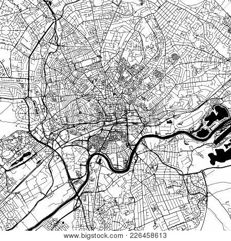 Nottingham Downtown Map With Many Details For Various Usecases. This Map Of Nottingham Contains Typi