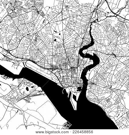 Southampton Downtown Map With Many Details For Various Usecases. This Map Of Southampton Contains Ty