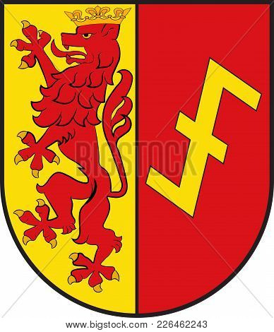 Coat Of Arms Of Erwitte Is A Town In The District Of Soest, In North Rhine-westphalia, Germany. Vect