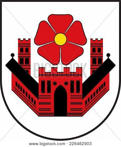 Coat Of Arms Of Lippstadt Is A Town In North Rhine-westphalia, Germany. Vector Illustration