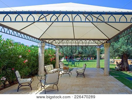 Fasano, Italy - July 22, 2006: The Garden Of The S.domenico Resort, One Of The Ancient Rural Farms O