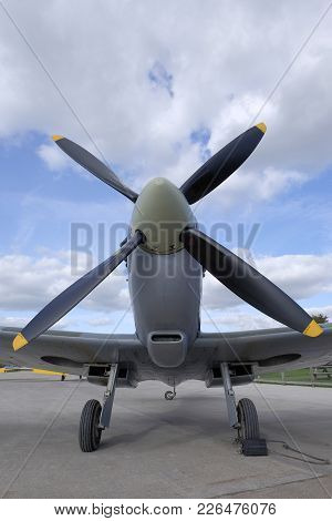 The Front View Of A Supermarine Spitfire