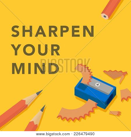 'Sharpen your mind' conceptual illustration